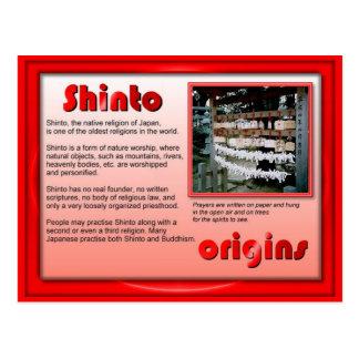 Religion, Shinto origins Postcard