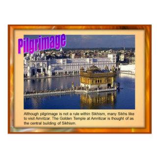 Religion, Sikh Pilgrimage,Golden temple, Amritsar Postcard