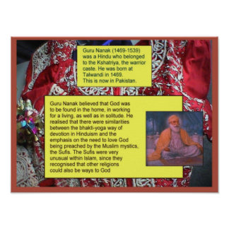 Religion, Sikhism, Guru Nanak Poster