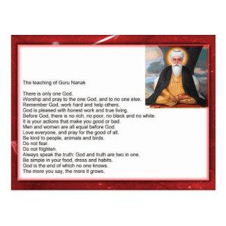 Religion, Sikhism, Guru Nanak, teaching Postcard