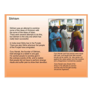 Religion, Sikhism, introduction Postcard
