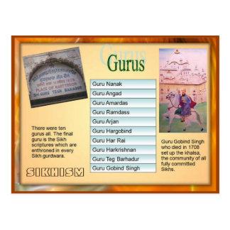 Religión, Sikhism, los diez gurúes Tarjetas Postales