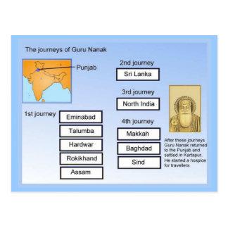 Religión, Sikhism, viajes de Guru Nanak Postales