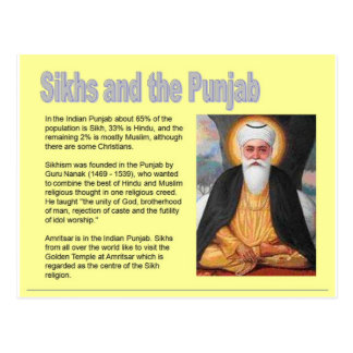 Religion, Sikhs and the Punjab Postcard
