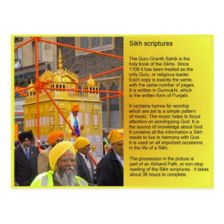 Religion, Sikhs  scriptures, Adi Granth Postcard