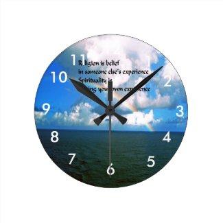 Religion Spirituality Round Clock