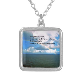 Religion Spirituality Silver Plated Necklace