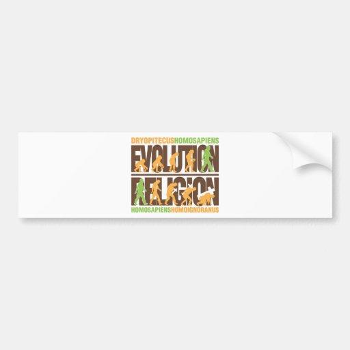 Religion Vs Evolution Bumper Stickers