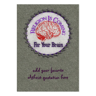 Religion Wants Your Brain Large Business Card