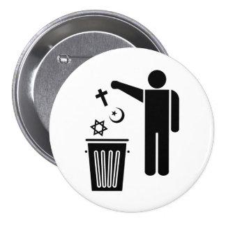 Religion Wastebin Pinback Button