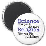 Religión y ciencia imán para frigorífico