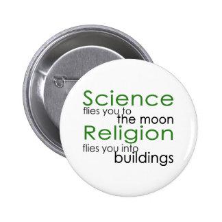 Religión y ciencia pins