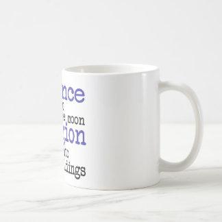 Religión y ciencia taza de café