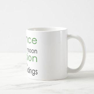 Religión y ciencia tazas de café