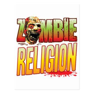 Religion Zombie Head Postcard