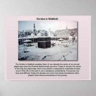 Religiones del mundo, Islam, Ka'aba, Makkah Póster