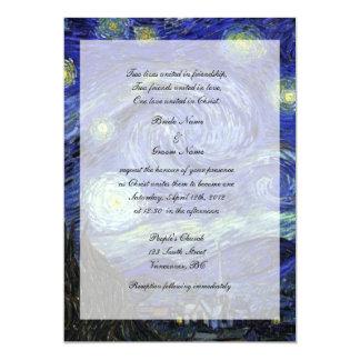 Religiones, invitación del boda de Cristo, noche