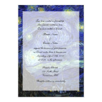 Religions, Christ wedding invitation, Starry Night Invitation