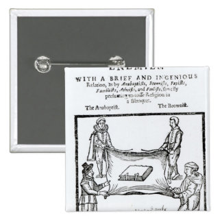 Religions Enemies, 1641 2 Inch Square Button
