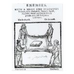 Religions Enemies, 1641 Postcard