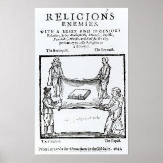 Religions Enemies, 1641 Posters