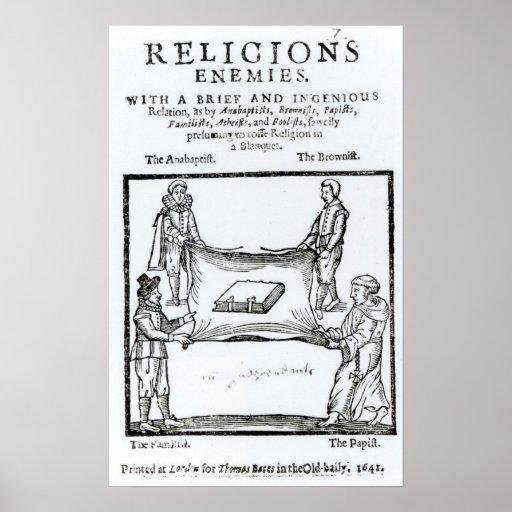 Religions Enemies, 1641 Poster