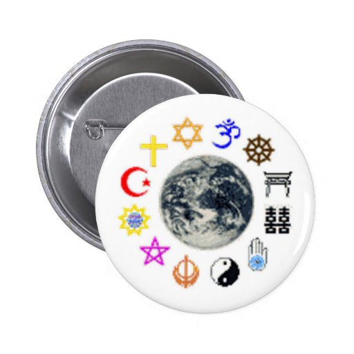 RELIGIONS of the WORLD Buttons
