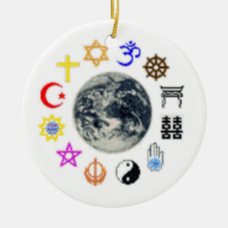 RELIGIONS OF THE WORLD CERAMIC ORNAMENT