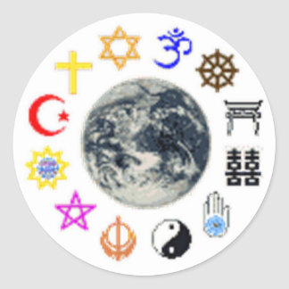 RELIGIONS of the WORLD Classic Round Sticker