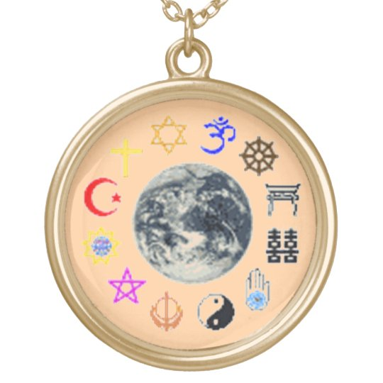 RELIGIONS OF THE WORLD GOLD PLATED NECKLACE