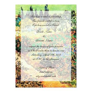 "Religion's wedding invitation 5.5"" x 7.5"" invitation card"