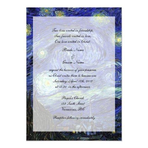 Religions wedding invitation, Starry Night Invites