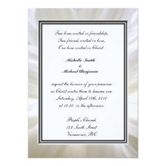 Religions wedding, pure white daisy flower card
