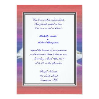 religion's wedding, two white geese card