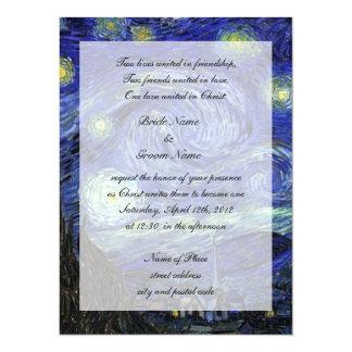 religion's wedding, van Gogh tstarry night Card