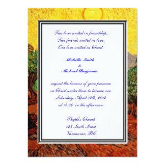 Religions wedding. Vincent van Gogh Olive Trees Card