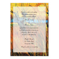 Religions wedding. Willows at Sunset Invitations