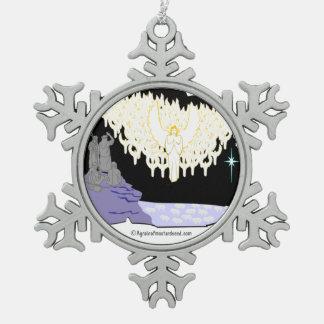 Religioso Adorno De Peltre En Forma De Copo De Nieve