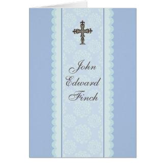 Religiosos cruzados elaborados le agradecen tarjet tarjeta pequeña