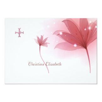 """Religiosos personalizada alto rosado le agradecen invitación 5"""" x 7"""""""