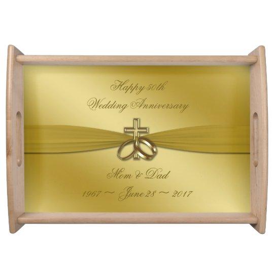 Religious 50th Wedding Anniversary Serving Tray Zazzlecom