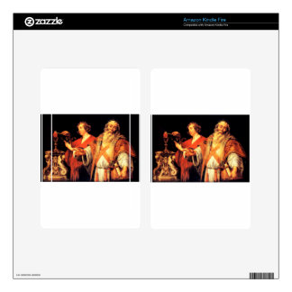 Religious allegory by Jacob Jordaens Decal For Kindle Fire