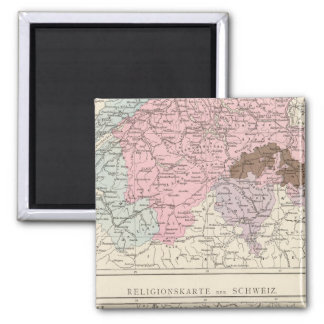 Religious and Linguistic Map of Switzerland Magnet