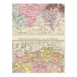 Religious and Linguistic Map of Switzerland Post Cards