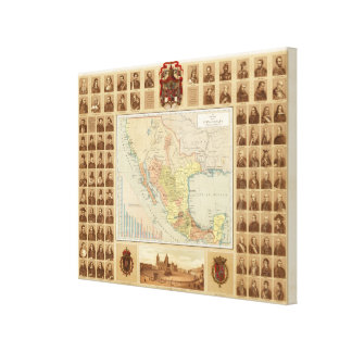 Religious and Secular Figures of Mexico Canvas Print
