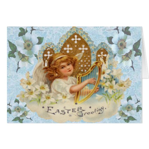 Religious Angel Easter Card Greeting Card