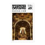 Religious art representing Santa Teresa 2 Stamp
