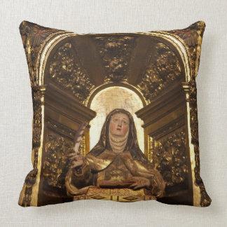 Religious art representing Santa Teresa 2 Throw Pillow