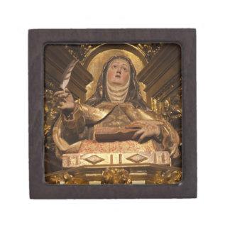 Religious art representing Santa Teresa Keepsake Box