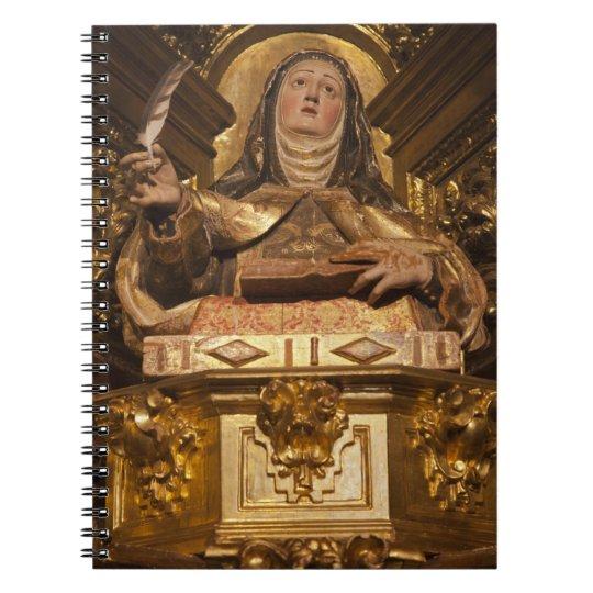 Religious art representing Santa Teresa Notebook